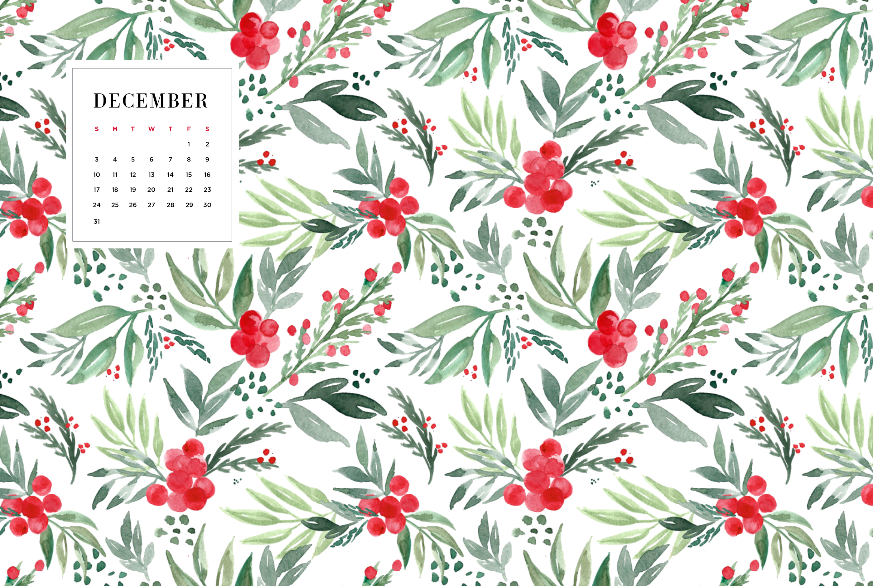 digital wallpapers december 2017 | may designs