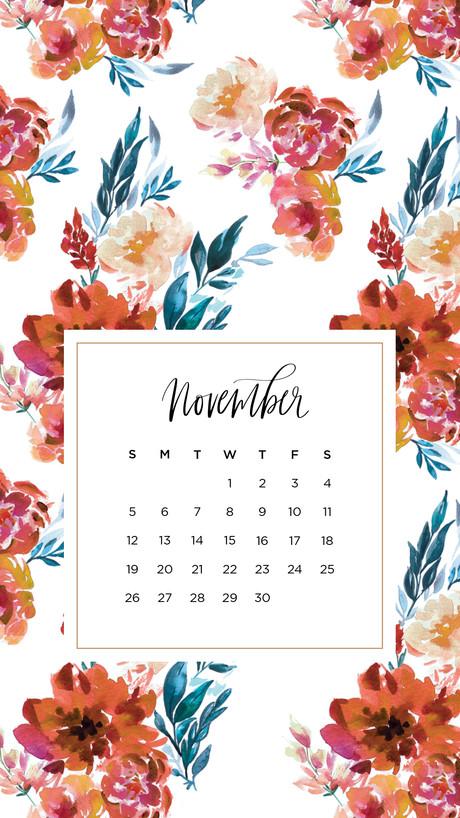 Iphone Calendar Wallpaper November : Digital wallpapers november may designs