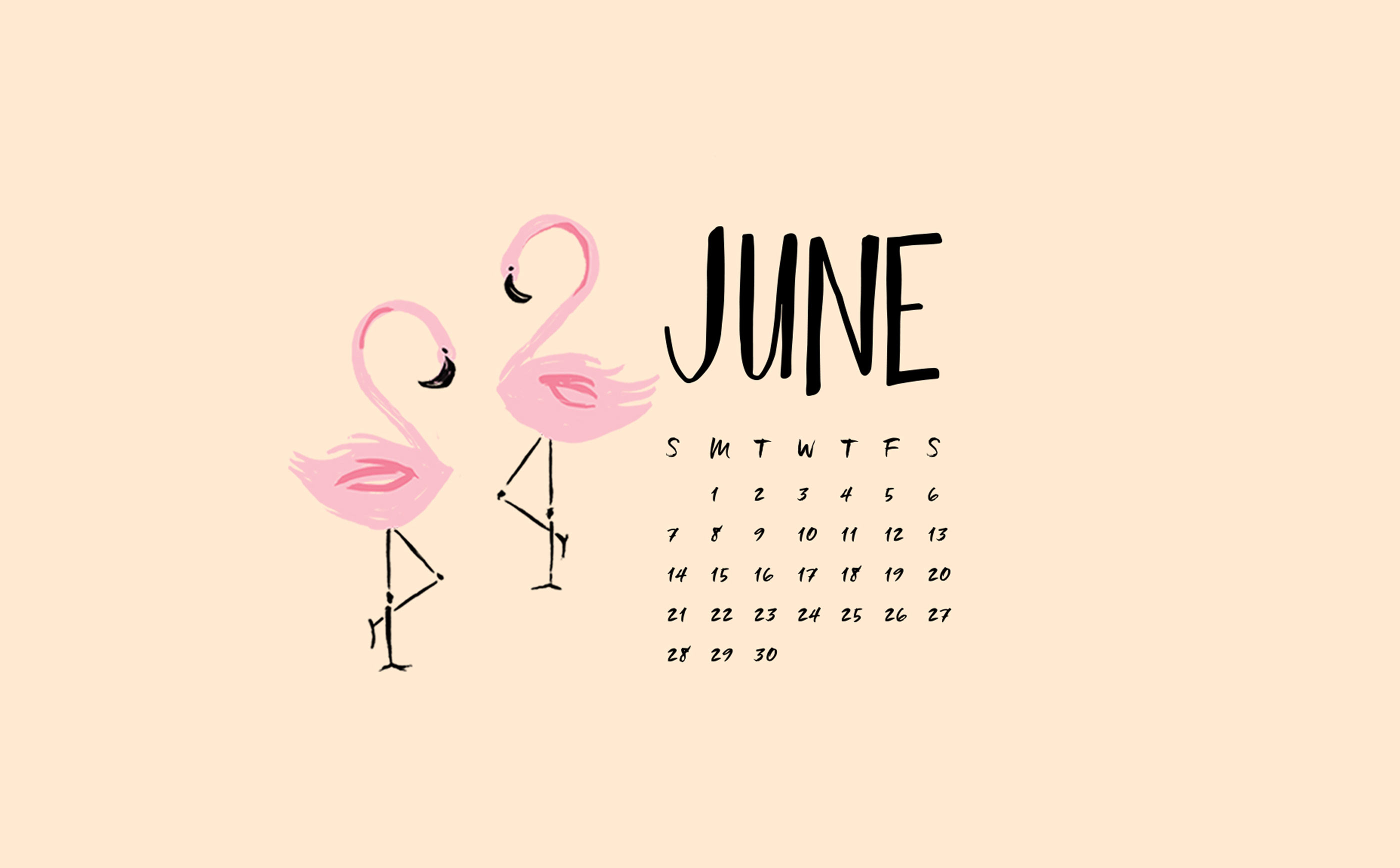 Click Here To Download Mint Calendar Flamingos