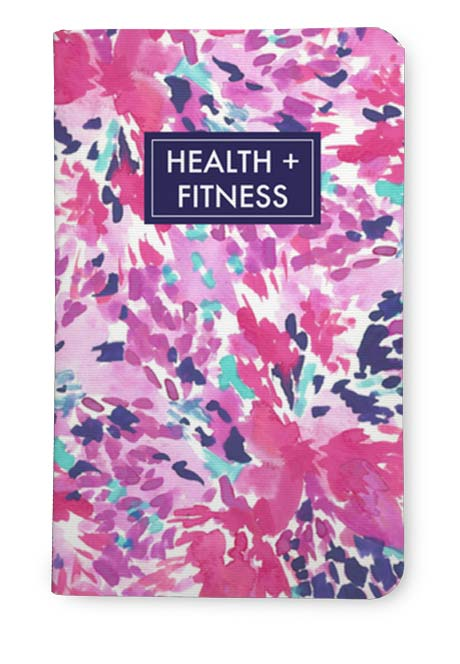 Pink health and fitness journal