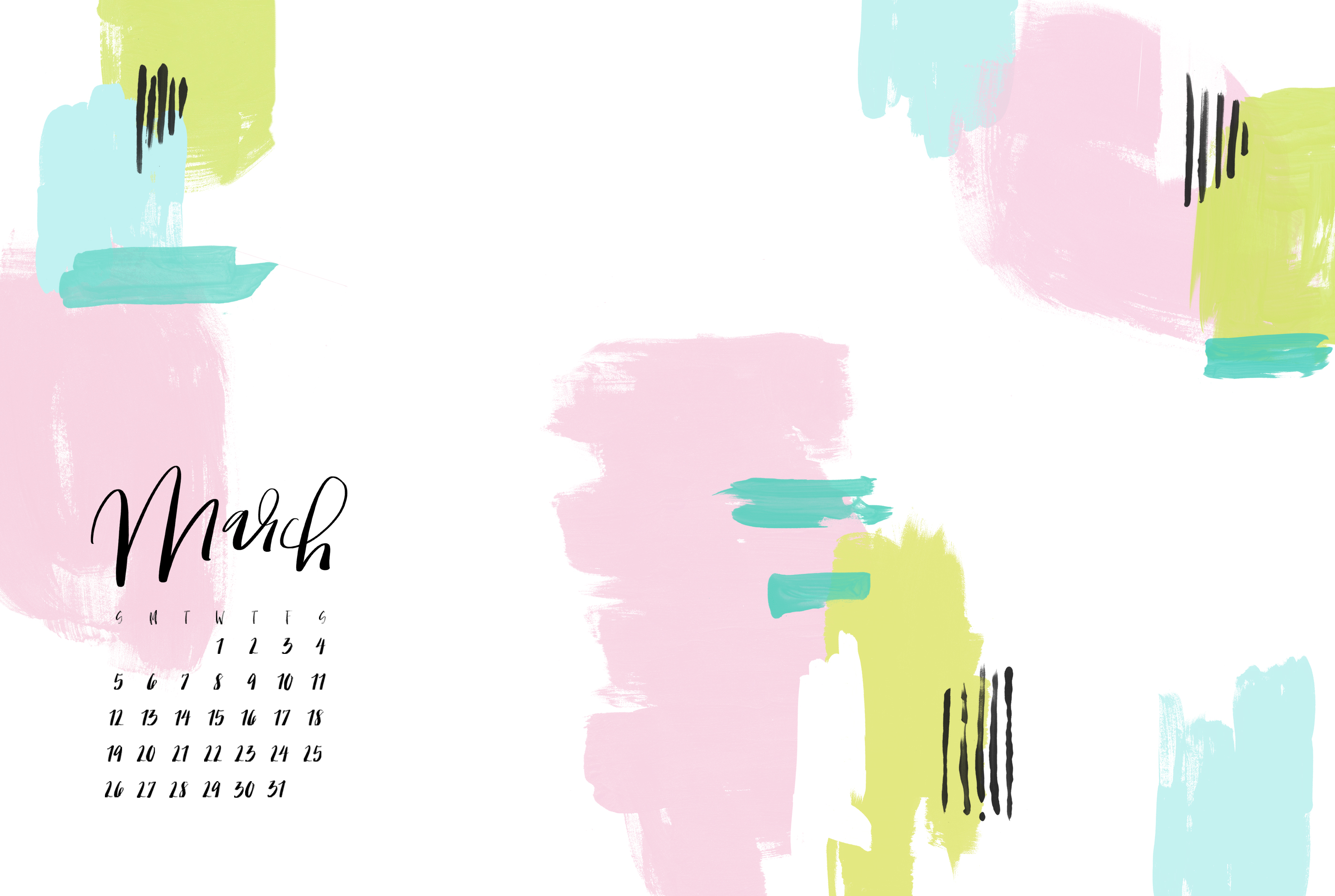 Click Here To Download March White Desktop