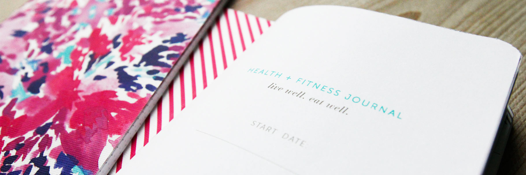 Health and fitness exercise journal.