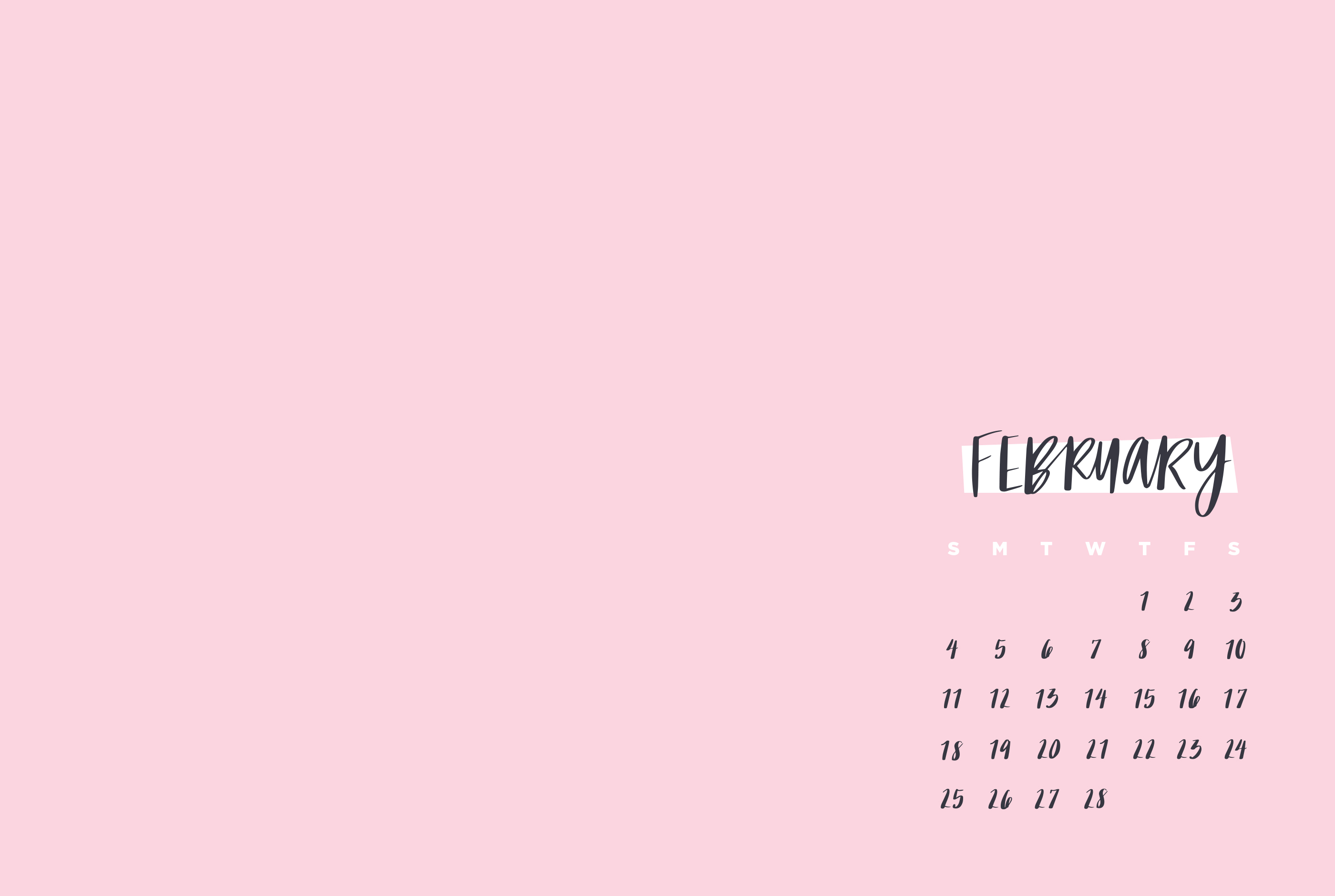 Digital Wallpapers February 2018 | May Designs